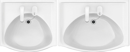 シンプルなデザインが人気!ハウステック洗面化粧台QVの洗面ボウル