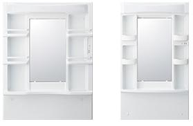 シンプルな一面鏡(間口は75cmと60cmのパターン)