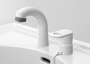 ハウステック洗面化粧台「QV」の水栓金具はエコで使いやすい仕様
