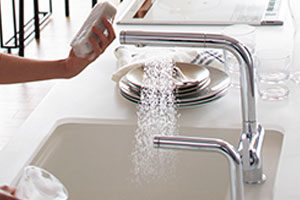 タッチスイッチ水ほうき水栓